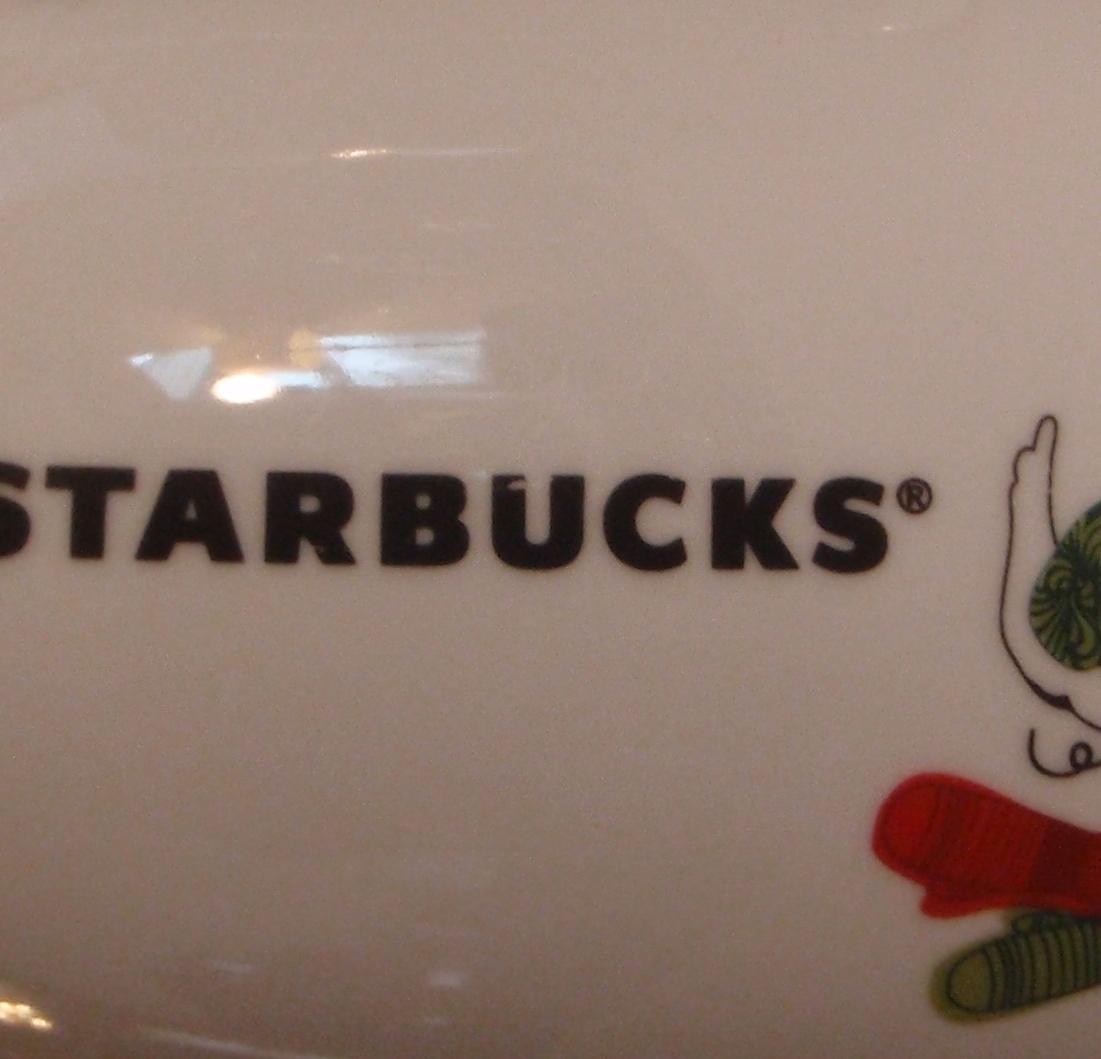 2 Starbucks 2011 Christmas Mittens Bird Dove 13 Oz Ceramic