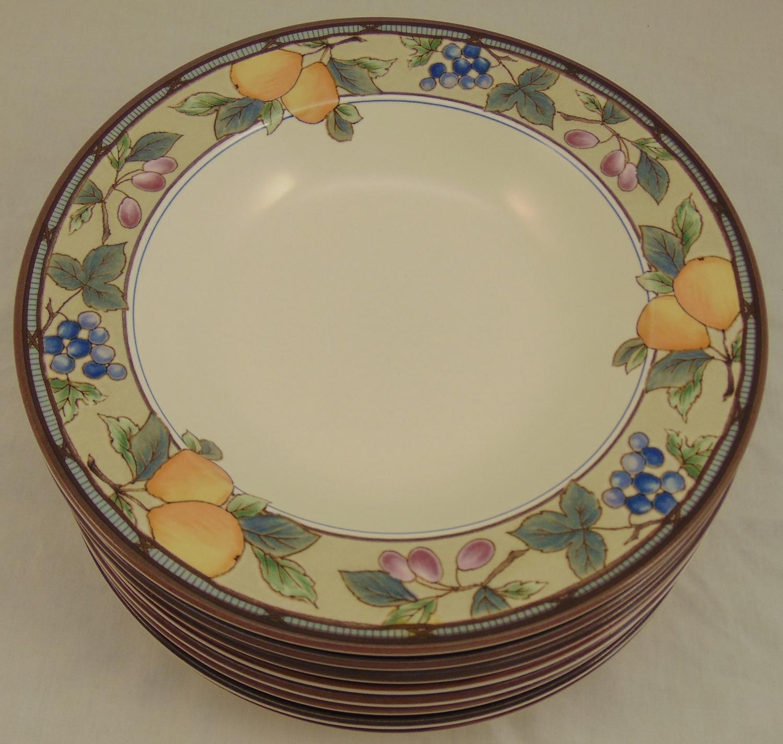 8 Mikasa Intaglio Garden Harvest 9 Large Rim Soup Bowl Lot Cac29 Ebay