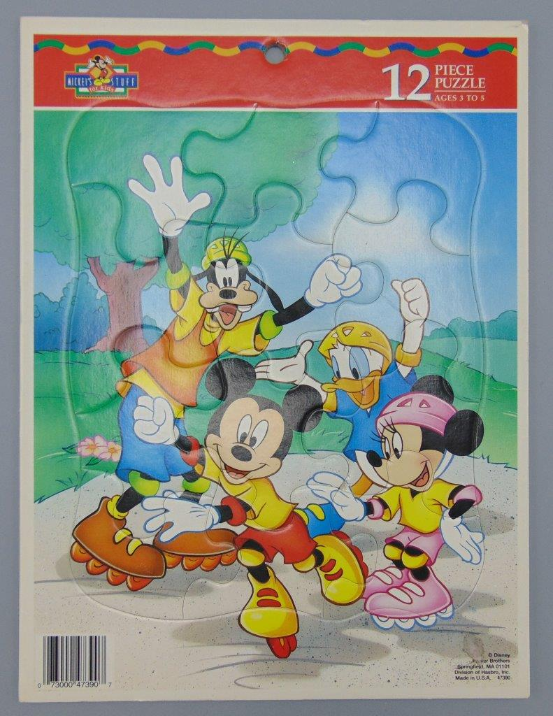 Mickey\'s Stuff For Kids 12 Piece Puzzle Mickey Minnie Donald Goofy ...