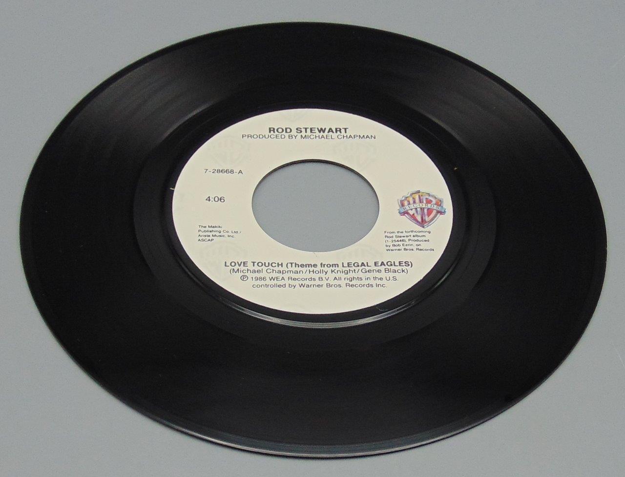 Rod Stewart Love Touch Legal Eagles Theme 7-28668 45 RPM - KC's Attic