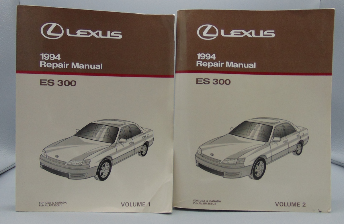 1994 LEXUS ES300 ES 300 Repair Manual Volume 1 and 2