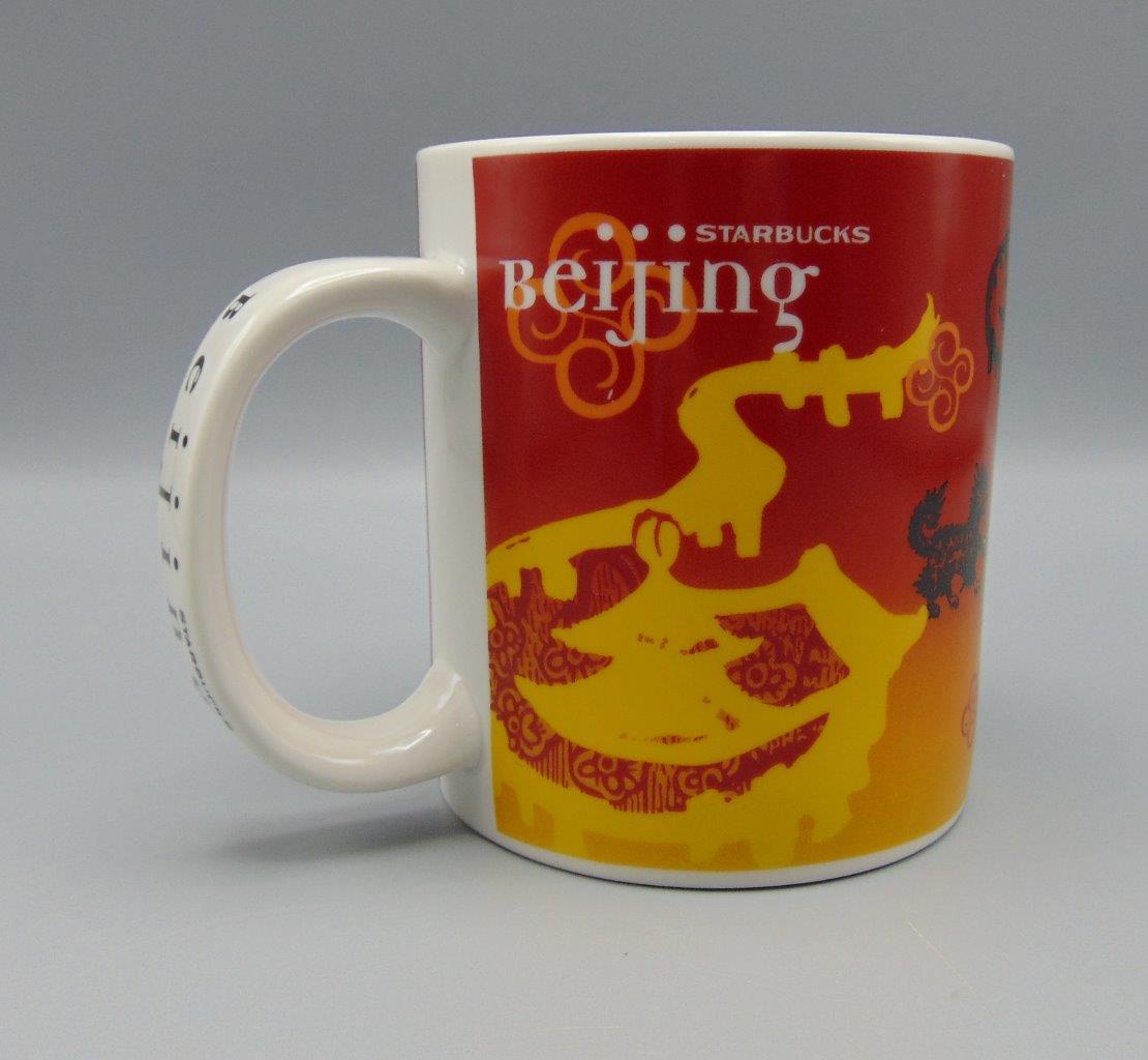 Starbucks Beijing Ceramic City Series Mug Coffee Redwhiteyellow 4AjL35R